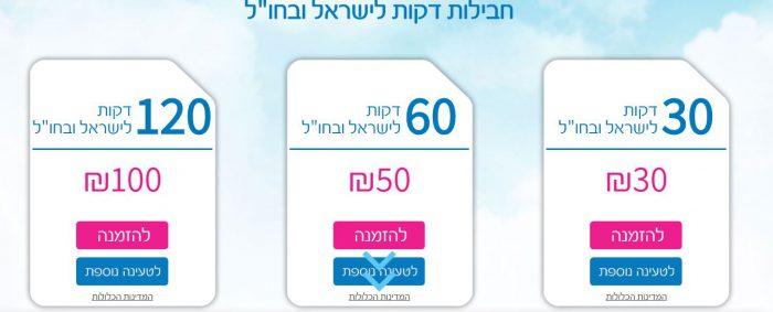 מחירי חבילת שיחות גלובל סים סוף 2019